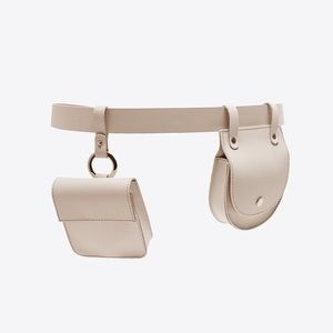 Zara leather belt with coin pockets